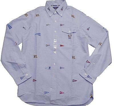 a98668f4a POLO Ralph Lauren Mens Classic Fit Oxford Button-down Shirt PENNANT BULLDOG  L