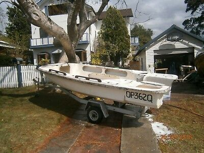 Boat 12 foot; Fibrerglass extended whaler approx size