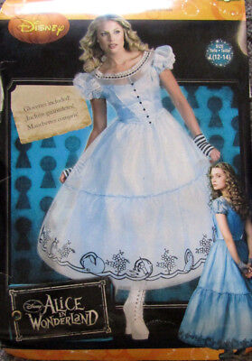 NWT Disney Alice in Wonderland Deluxe Adult Halloween Party Costume Size 12-14