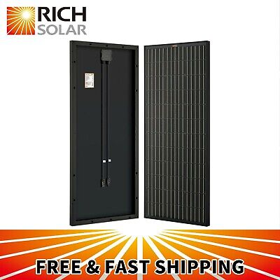 Black 10W 20W 30W 50W 100W Monocrystalline Solar Panel 12V Battery Charger Mono