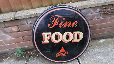 Vintage Style Bass Beer Food Pub Home Bar Advertising Button  Sign