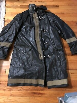 VINTAGE Globe Firefighter's Turnout Coat Size 40 From NEW YORK