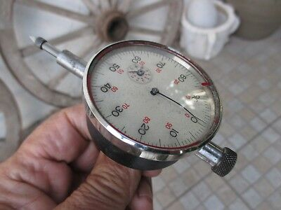 Vintage Germany Micrometer With Original Case Meter Dial Indicator Tubular Gauge