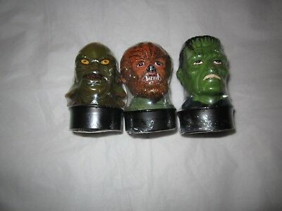 Universel Monsters 3 Candle Creature from the Black Lagoon Wolfman Frankenstein