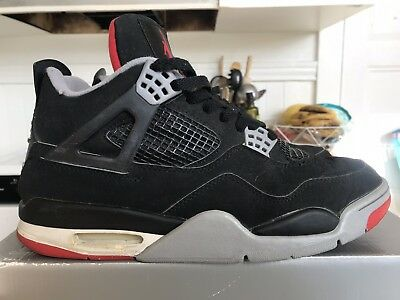 half off 220a8 97601 Vintage Used 1999 Nike Air Jordan IV 4 Retro Black Cement Sz 10.5 Atmos  Undftd