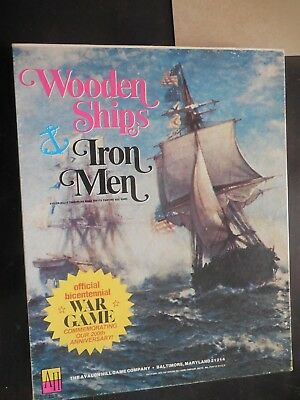 Wooden Ships Iron Men Avalon Hill Strategy War Game 1975 Vintage Box Board
