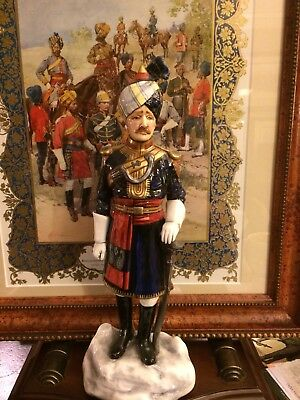 Michael Sutty porcelain Of An Officer Of Probyns Horse. Indian Army