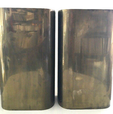 2 Vintage Mid Century Modern Brass Wall Sconces by Steven Chase
