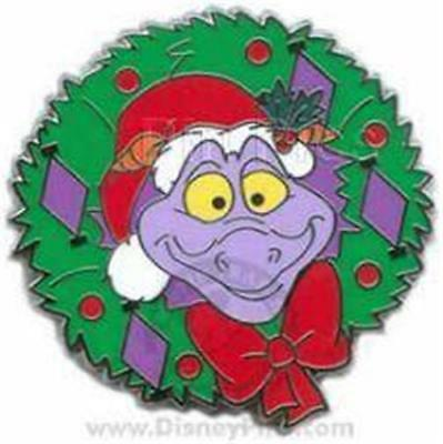 FIGMENT HAPPY HOLIDAYS WREATH 2008 MYSTERY TIN COLLECTION  LE 1600 Disney Pin