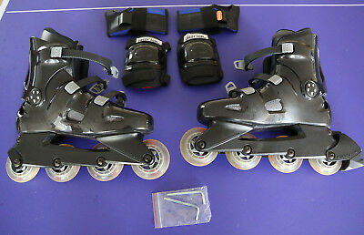 Aerial In-line Skates  Exo , Size Adult 10, Black/Grey