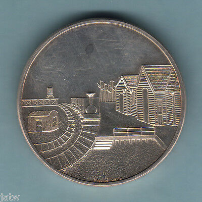 Australia. 1954 Centenary of 1st Steam Railway.. Silver, 38mm - Issued by N.A.V