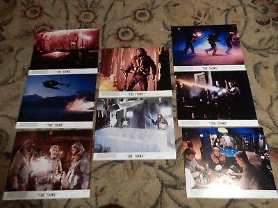 THE THING LOBBY CARDS - Complete set of 8