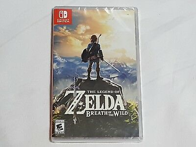 NEW The Legend of Zelda: Breath of the Wild Nintendo Switch Game SEALED US NTSC