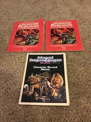 Vintage Lot Of (3) Dungeons & Dragons Handbooks - See Pictures & Description
