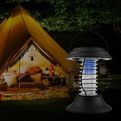 Solar Powered Camping LED Bug Zapper Lamp Light Insect Mosquito Killer Garden