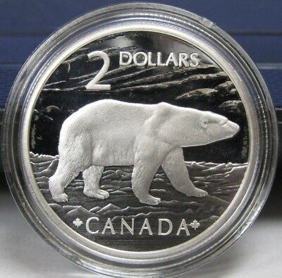 2004 Canada Proof Sterling Silver $2 Polar Bear Coin