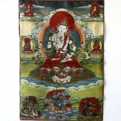 Tibet Collectable Silk Hand Painted The Buddhism Thangka