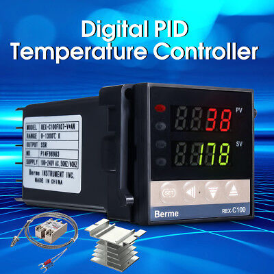 Alarm 2 way REX-C100 AC 110V-240V Digital PID Temperature Controller Kit