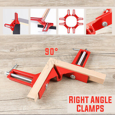 90° Right Angle Clamp Wood Working Miter Picture Frame Corner Tank Clip