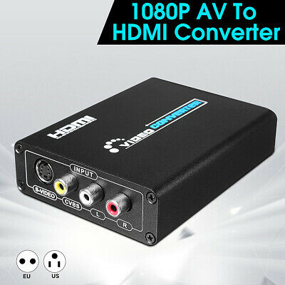 1080P HD 3RCA AV CVBS Composite & S-Video R/L Audio to HDMI Converter Adapter