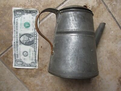 Nice Large Antique Hand Made Tin Coffee Pot, Americana, Kitchen, Stove, GIFT