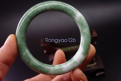 NEW Real China's natural green jade hand carved jewels jade bangle 59mm
