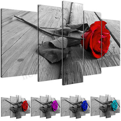 Large Rose Canvas Modern Home Wall Decor Art Oil Painting Picture Print Unframed