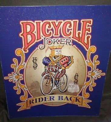 "Bicycle Playing Cards Joker Metal Sign 15""x12"" Rider Back US 808 Wall Game Room"