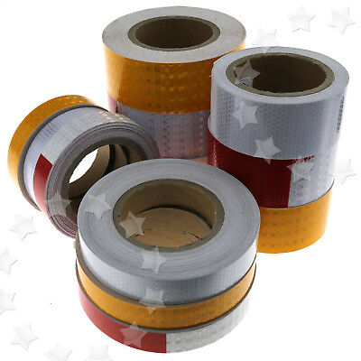 Self-Adhesive Roll Reflective Safety Warning Conspicuity Tape Four Sizes