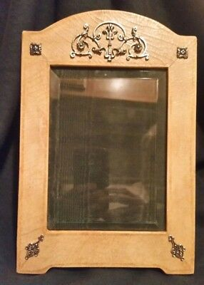 Vtg Photo Frame w Sterling Silver Hand Made by Maitland-Smith in Philippines 5x7
