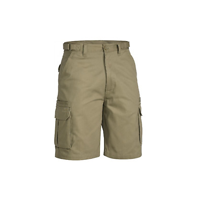 Mens Tradies Cotton Drill 8 Pocket Cargo Work Shorts Workwear Khaki Sand Navy