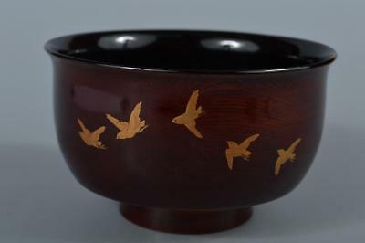 R6344: Japanese Wooden Lacquer ware Kashiki DESSERT BOWL/dish Tea Ceremony