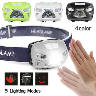 12000LM LED Motion Sensor Headlamp Headlight USB Rechargeable Torch Flashlight Z