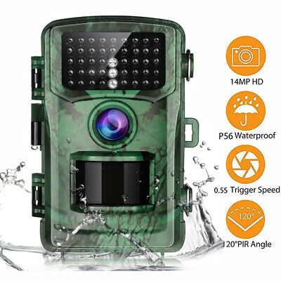 Campark Trail Game Camera 14MP HD 1080P Wild Hunting Cam Night Vision Waterproof