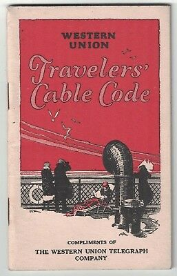 Western Union Travelers' Cable Code booklet