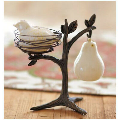 NEW IN BOX Pottery Barn PARTRIDGE IN A PEAR TREE Salt & Pepper Shakers