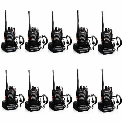 10x Walkie Talkies BaoFeng 2 Way Radios Walky Talky Long Range UHF 400-470MHz CA