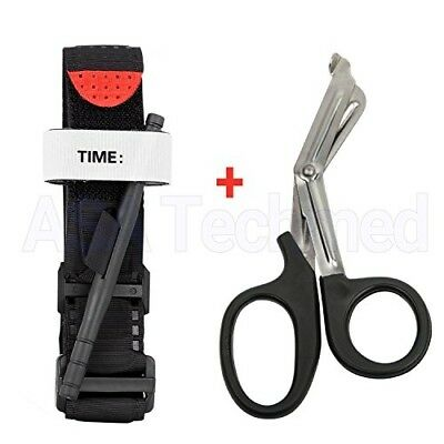One Hand CAT Tourniquet Combat Application First Aid Handed With Trauma Shear