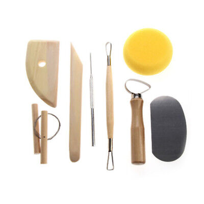 8 Pcs Pottery Tools Set Clay Sculpting Modeling Carving Ceramics Art Tools Kit