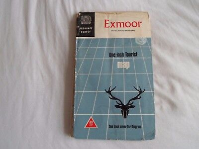 vintage one inch tourist map of Exmoor O.S.  1976  historic interest