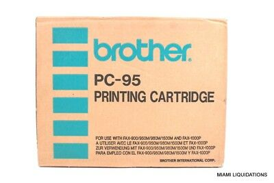 Brother PC-95 Printing Cartridge Black GENUINE for Fax 900/950M/980M/1500M 1000p