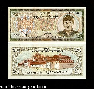 Bhutan 20 Ngultrum P23 2000 X 100 Pc Bundle King Dzong Unc Note Money Millennium