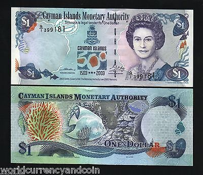 CAYMAN ISLANDS 1 DOLLAR 2003 BUNDLE COMMEMORATIVE QUEEN UNC LOT x 100 PCS NOTE