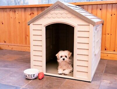 Dog House for Large Breed Dog Outside Weatherproof Oudoor Indoor Durable Home GP
