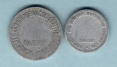 Australia. BREAD TOKENS. Newcastle & Suburban. For Loaf & 1/2 Loaf
