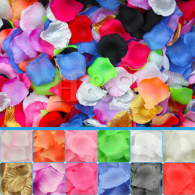 500x Top Quality Silk Rose Petals Wedding Flower Confetti Party Table Decoration