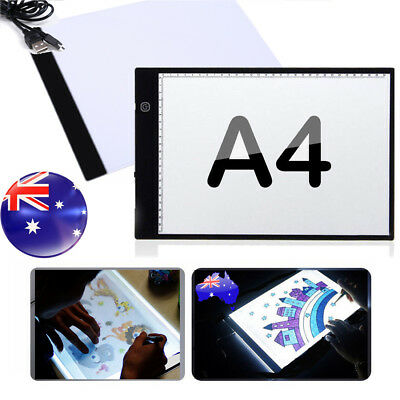 A4 LED Light Box Tracing Drawing Board Art Design Pad Copy Lightbox Day&Night AU