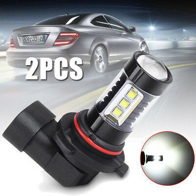 2Pcs 9006 HB4 LED Fog DRL Driving Car Head Lamp Light Bulb Super Bright White