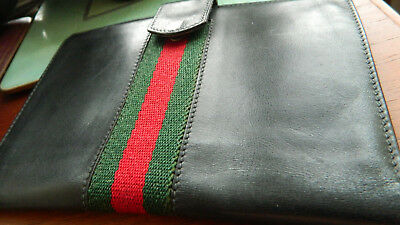 Vintage Large Gucci Black Leather Wallet