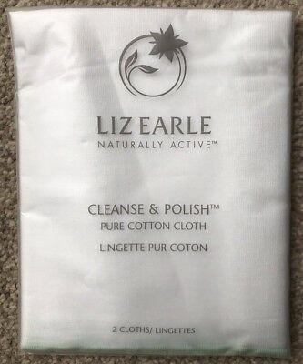 Liz Earle Cleanse and Polish Cloths - Brand New & Sealed - 2 Cloths in the Pack